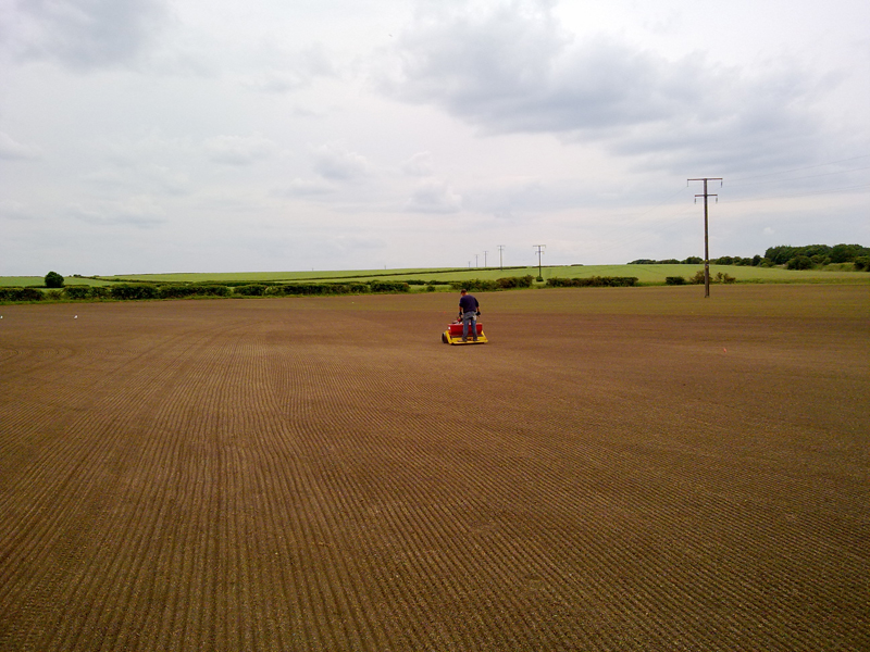 Seeding with the Culti-pack using Barenbrug BAR 8