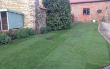 A new turf lawn at Nettleton Top near Caistor