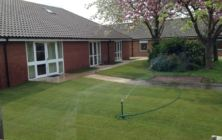 New turf lawn areas at the Fairways care home, Grimsby. North East Lincolnshire