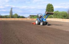 Our Rotadairon RD 150 preparing a large lawn area at Epworth for grass seeding