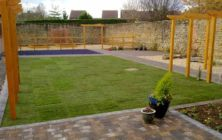 Winterton Nov 2011, a new turf lawn completed on recently built house