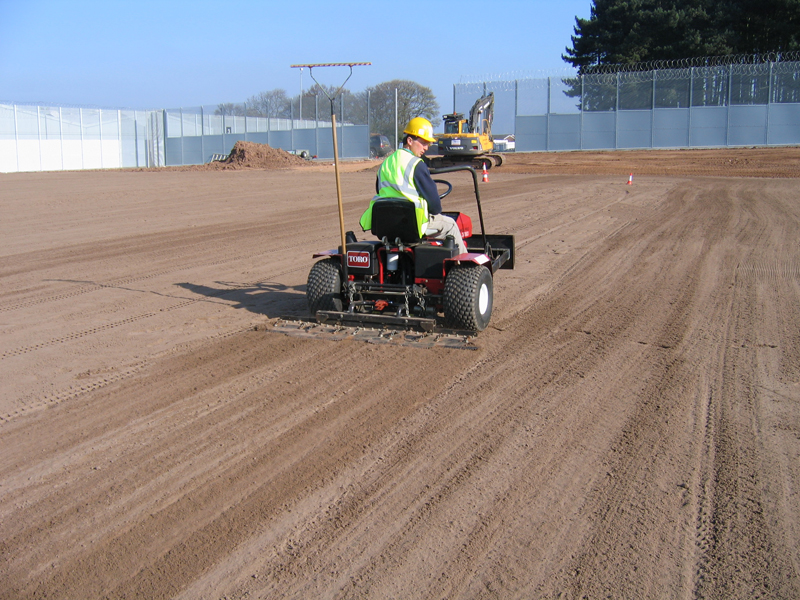Toro Sandpro used to prepare rootzone material before turfing