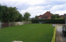 Domestic Lawn Winterton after levelling topsoil heaps and turfing