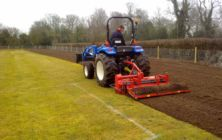 March 2012 - Martin Primary school near Lincoln. Preparing the playing field area for levelling & re-seeding