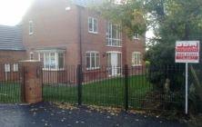New Build Home Development site at Bonby Oct 2012