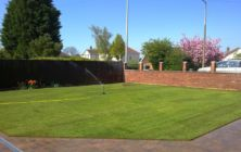 Sea View Street , Cleethorpes. North East Lincolnshire. A new turf lawn on a new build home